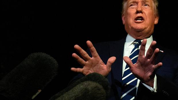 Donald Trump vor Abflug nach Biarritz