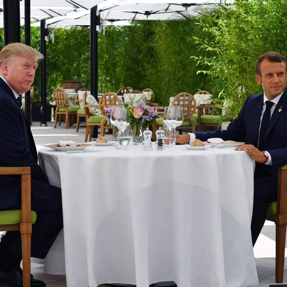 """Twitter-Vertipper: Trump twittert von Treffen mit """"Emanuel Macrone"""" und verlinkt auf Komiker"""