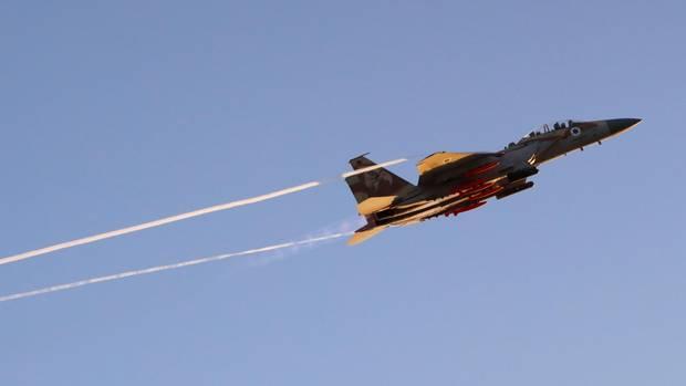 Ein F15-Kampfflugzeug der israelischen Luftwaffen (Symbolbild)