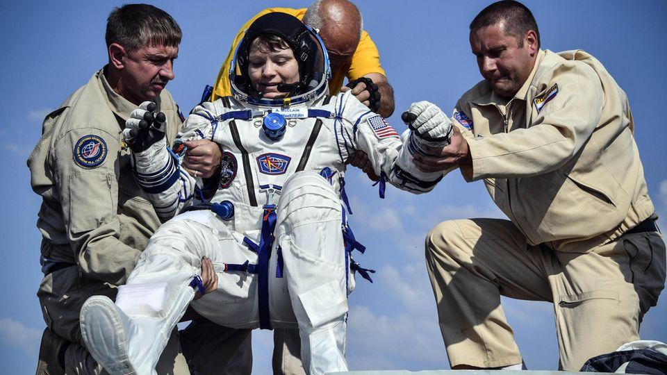 Wieder auf dem Boden der Tatsachen: Vor zwei Monaten kehrteAnne Charlotte McCain sicher zur Erde zurück und landete inKasachstan