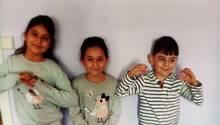 Amya,Laylasowie ihr BruderSubhi (v.l.) werden seit Freitag vermisst