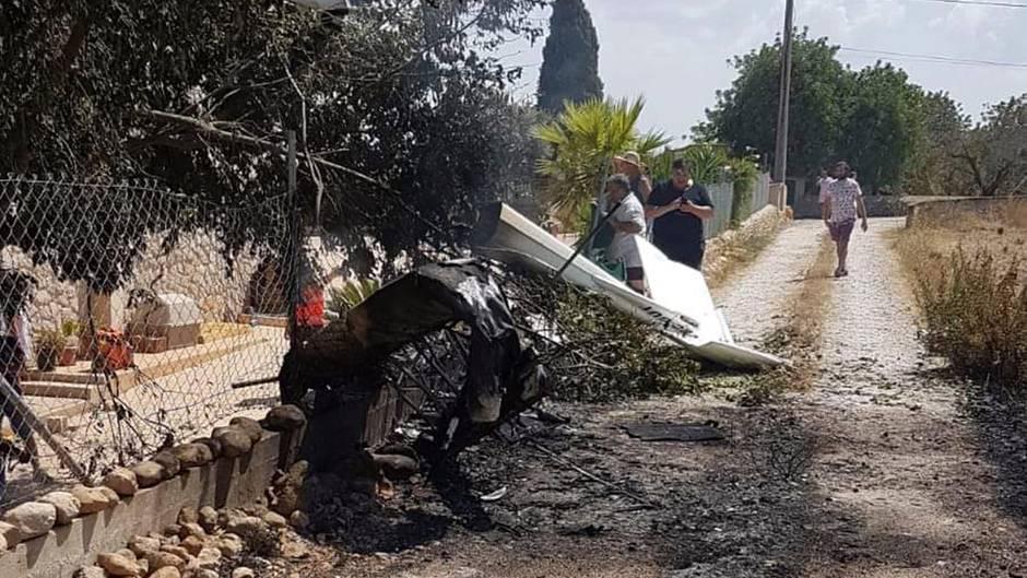 Wrack des Kleinflugzeugs auf Mallorca