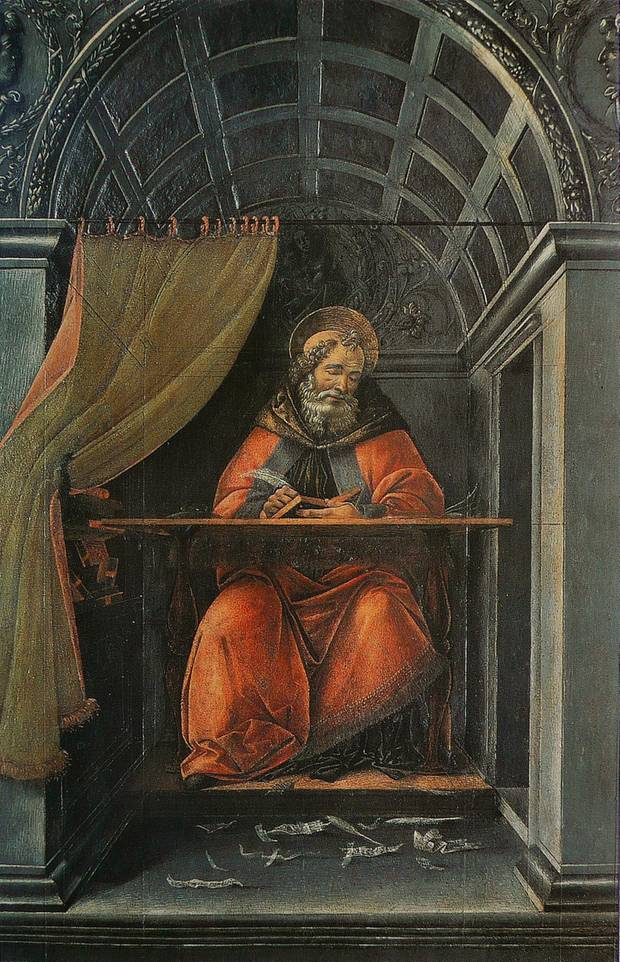 Saint Augustin dans son cabinet de travail