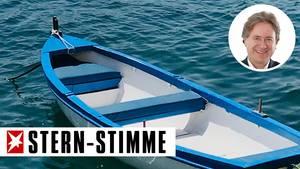 Fährt ohne Fahrplan-App: Bootstaxi am Strand von Mykonos