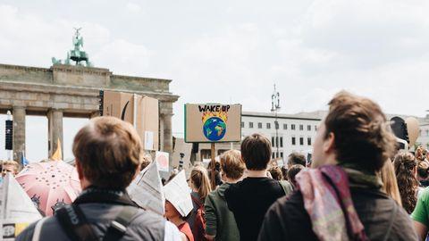 Demonstranten gegen den Klimawandel