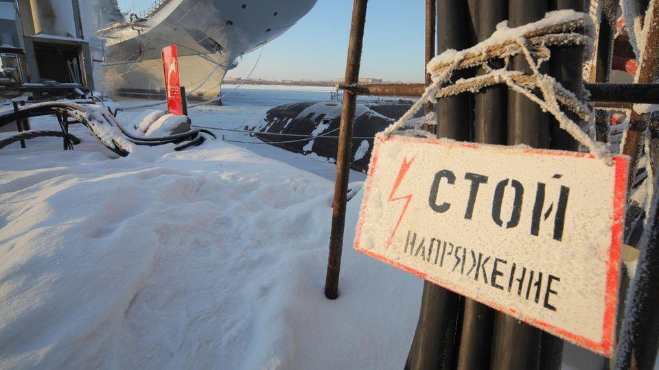 Eine Werft in Sewerodwinsk (Russland)