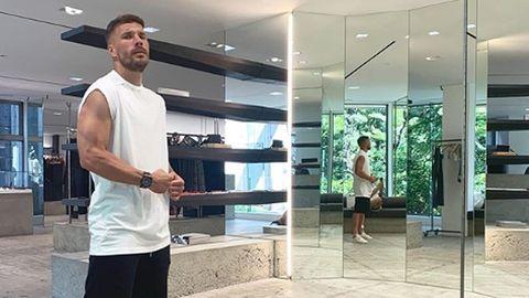 Lukas Podolski beim Shopping