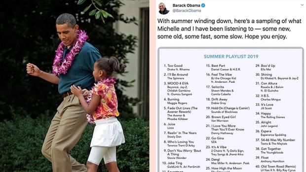 Obama tanzt mit Tochter