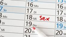Terminplan mit Sex-Termin