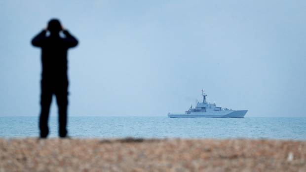 Patrouillenboot im Ärmelkanal