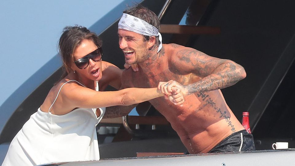Familie Beckham im Urlaub