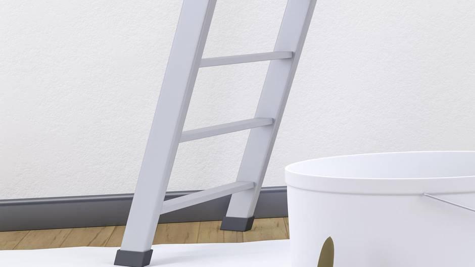 Mithilfe einer Leiter wollte ein Franzose Heimwerkerarbeiten in seinem Bad ausführen(Symbolbild)