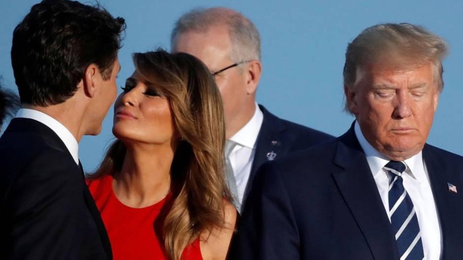 #MelaniaLovesTrudeau – Küsschen auf dem G7-Gipfel wird Hit auf Twitter