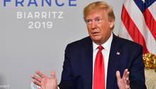 US-Präsident Donald Trump in Biarritz