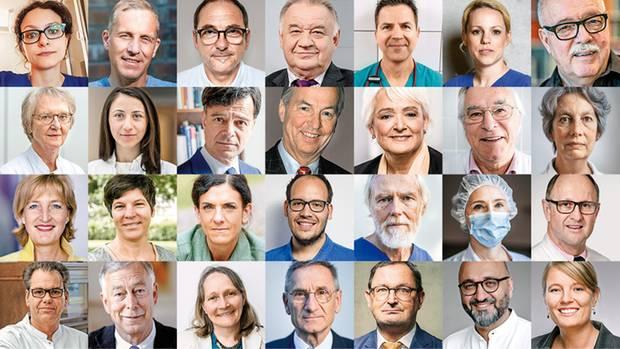 Ärzte-Appell im stern: Eine Liste zeigt eine Auswahl der Ärztinnen und Ärzte, die den Appell unterstützen