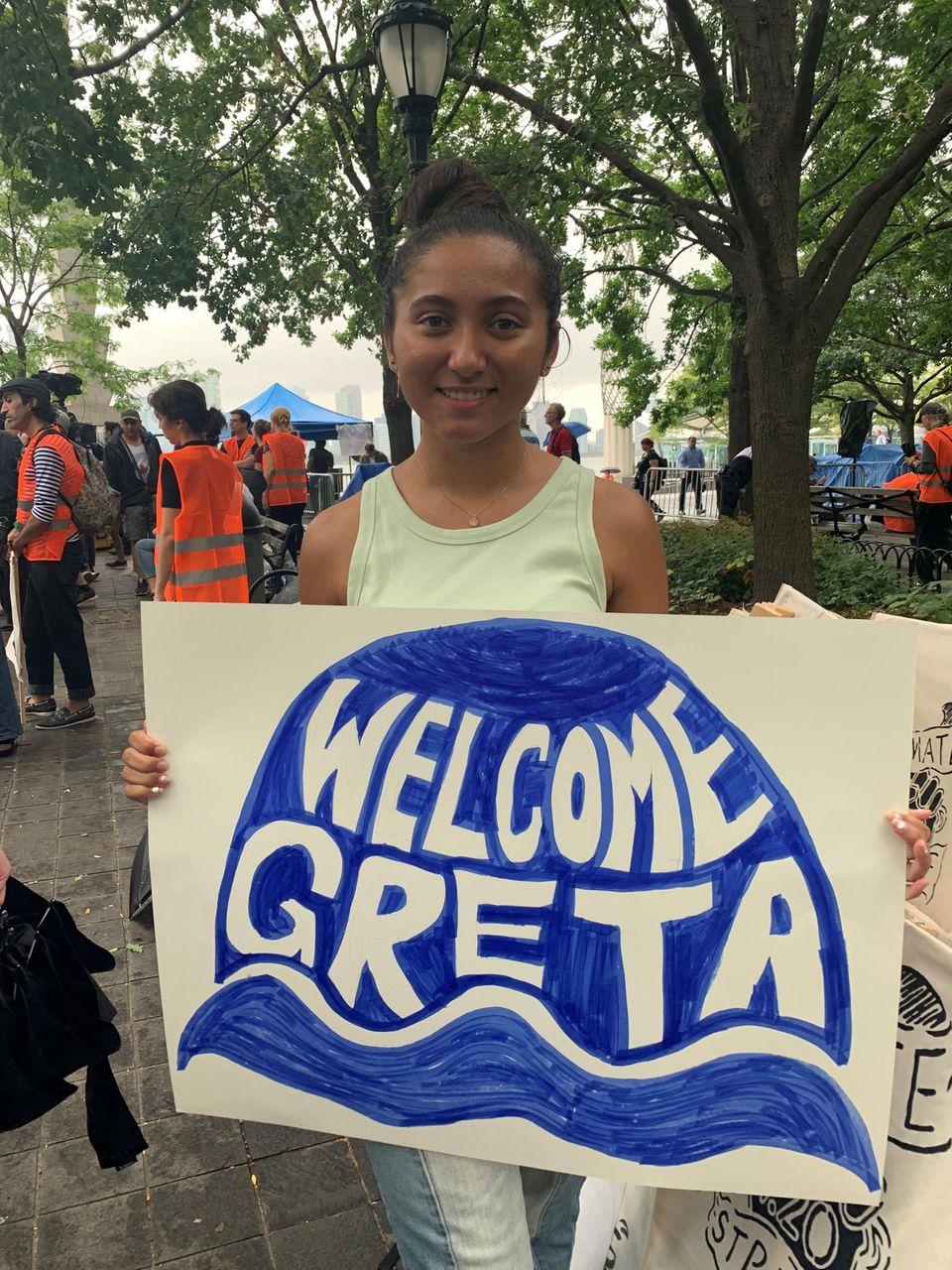 Teil der jungen US-Umweltbewegung: die 17 Jahre alte New Yorkerin Jade Lozada