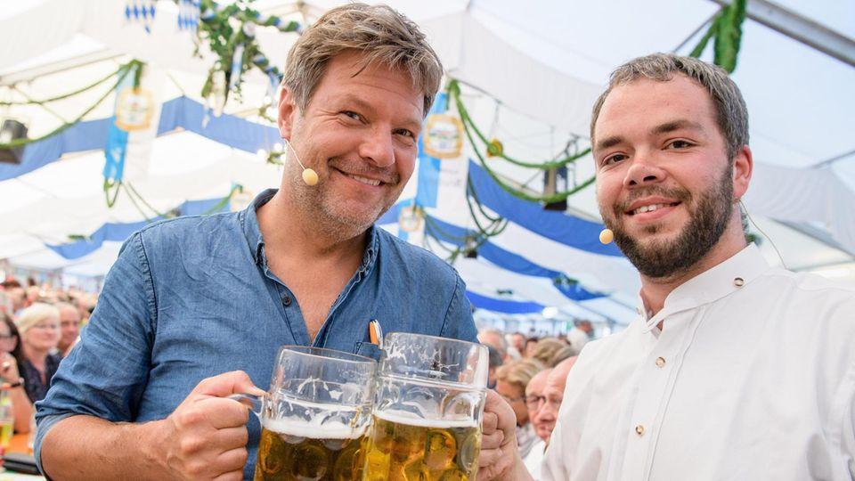 Habeck mit dem bayerischen Landtagsabgeordneten Andreas Krahl