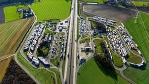 Luftaufnahme der Raststätte Aachener Land