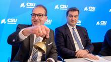 Alexander Dobrindt und Markus Söder von der CSU