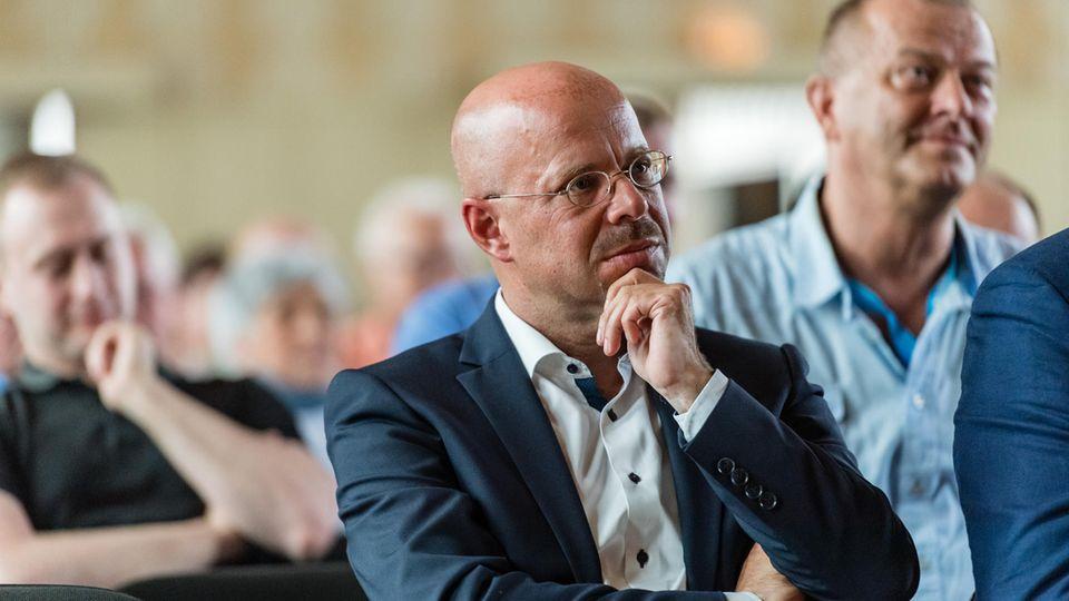 Andreas Kalbitz, Spitzenkandidat und Landeschef der AfD in Brandenburg