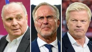 Uli Hoeneß, Karl-Heinz Rummenigge, Oliver Kahn