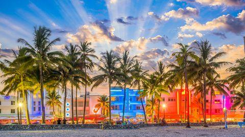 Am Ocean Drive direkt am Strand ist für seine vielen Art-déco-Hotels bekannt