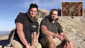 Zwei Freunde auf dem Gipfel des Mount Timpanogos