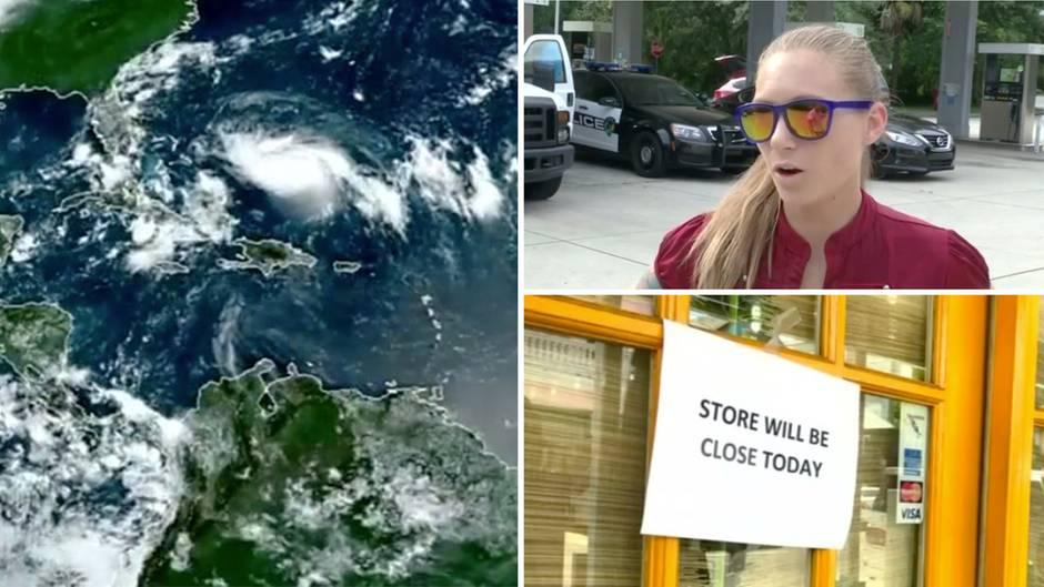 """Wirbelsturm: Notstand ausgerufen: Florida bereitet sich auf Hurrikan """"Dorian"""" vor"""