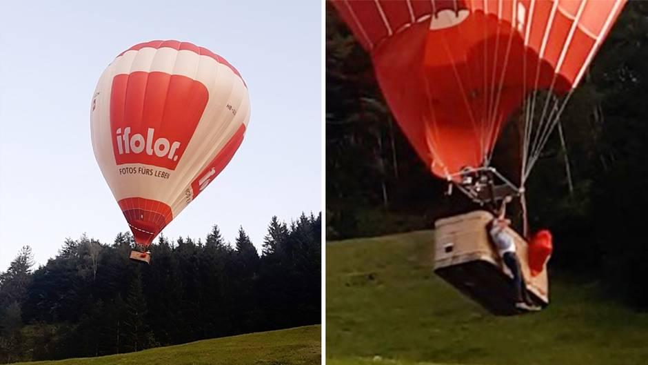 Unglück in Österreich: Pilot und Passagier werden aus Heißluftballon geschleudert