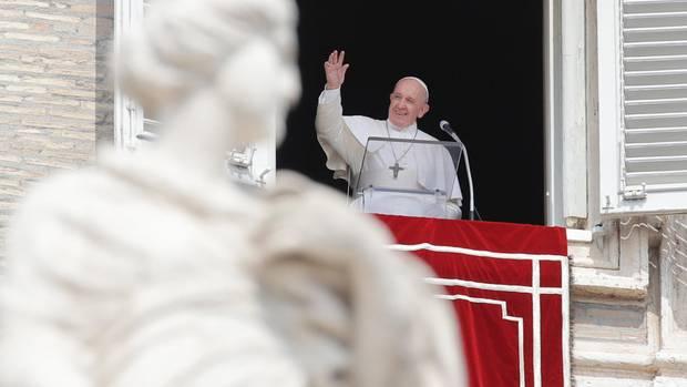 Papst Franziskus bei seinemAngelus-Gebet