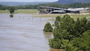 Fort Smith in Arkansas wird öfter von Sturzfluten heimgesucht. Dieses Bild von dort stammt aus dem Juni.