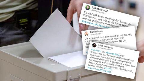 Landtagswahlen – Twitter-Nutzer reagieren auf Hochrechnungen