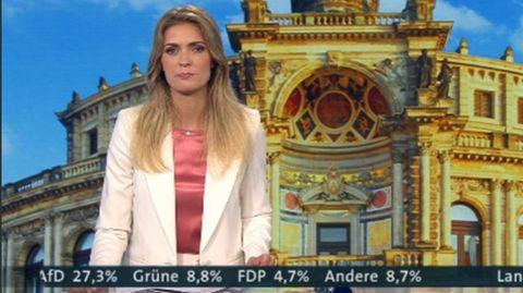 MDR-Moderatorin Wiebke Binder am Wahlabend