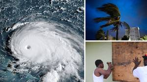 "Satellitenbild von Hurrikan ""Dorian"""