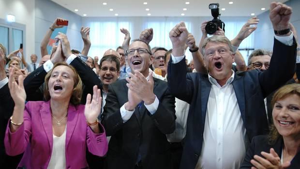 Jubel bei der AfD über die ersten Ergebnisse der Landtagswahlen