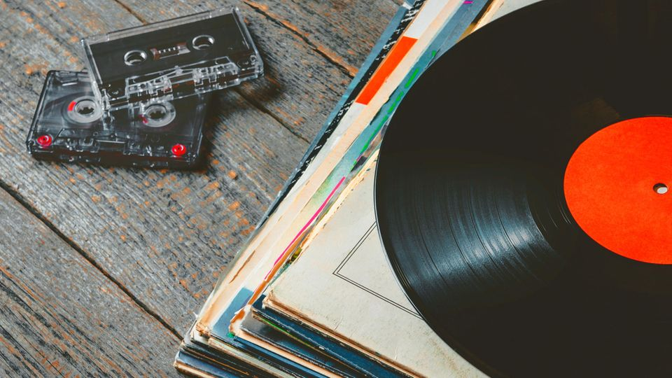 Vinyl und Kassetten