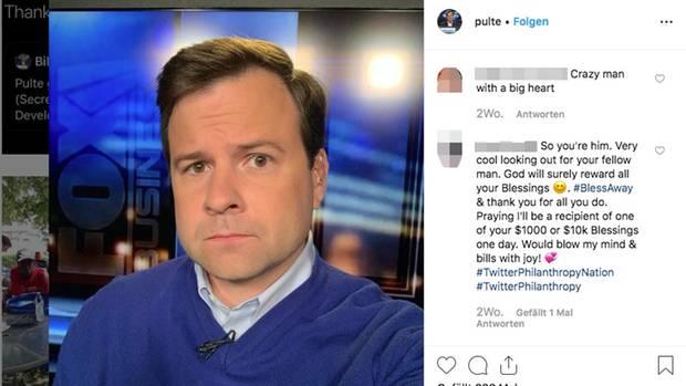 Bill Pulte auf einem Selfie bei Instagram