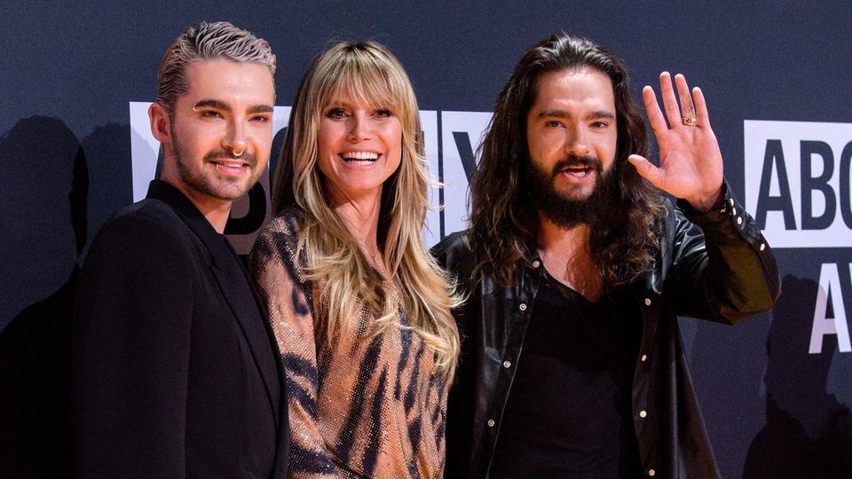 Heidi Klum zusammen mit den Kaulitz-Brüdern