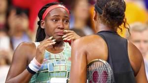 Tennisspielerinnen Cori Gauff und Naomi Osaka