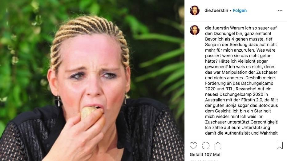 Helena Fürst will zurück ins Dschungelcamp