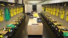 Amazon-Doku: Kabine von Borussia Dortmund