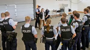 Polizeischüler bei der Ausbildung