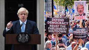 Am Samstag nahmen Hunderttausende Menschen in Großbritannien an landesweiten Demonstrationen gegen Boris Johnson  teil.