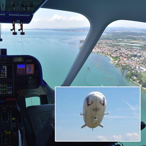 Rundflug-Video: Spektakuläre Aussicht: Mit dem Zeppelin über den Bodensee