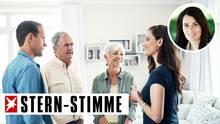 Der Besuch bei den Schwiegereltern ist für viele Menschen eine Belastung (Symbolbild)
