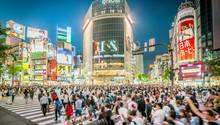 Kreuzung Shibuya in Tokio
