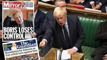 Boris Johnson spricht im Parlament