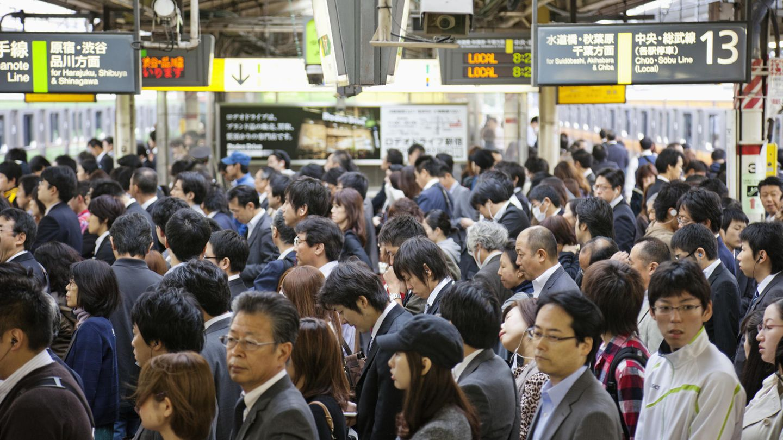 Pendler in Tokio