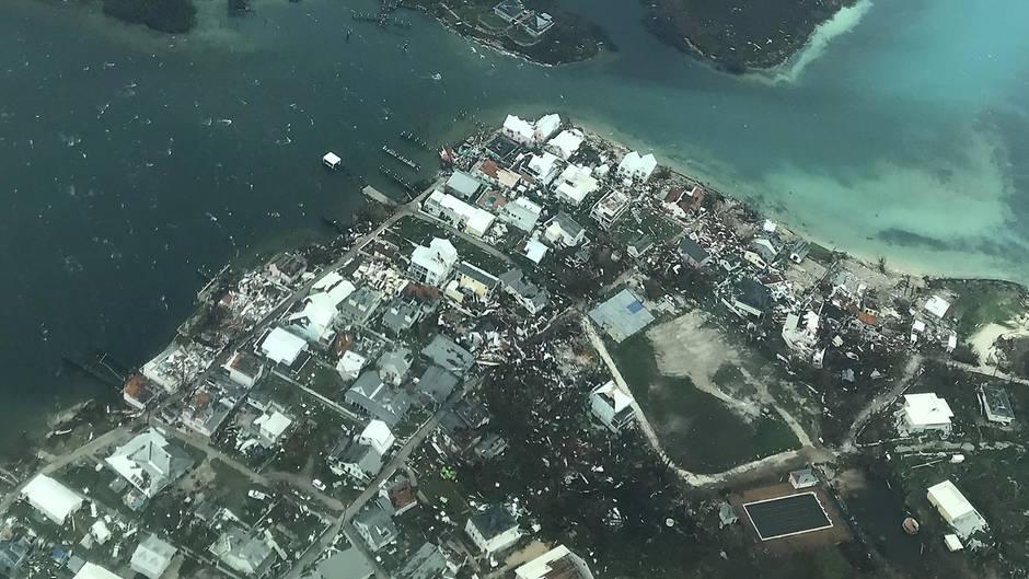"""Durch Hurrikan """"Dorian"""" zerstörte Häuser auf den Bahamas"""
