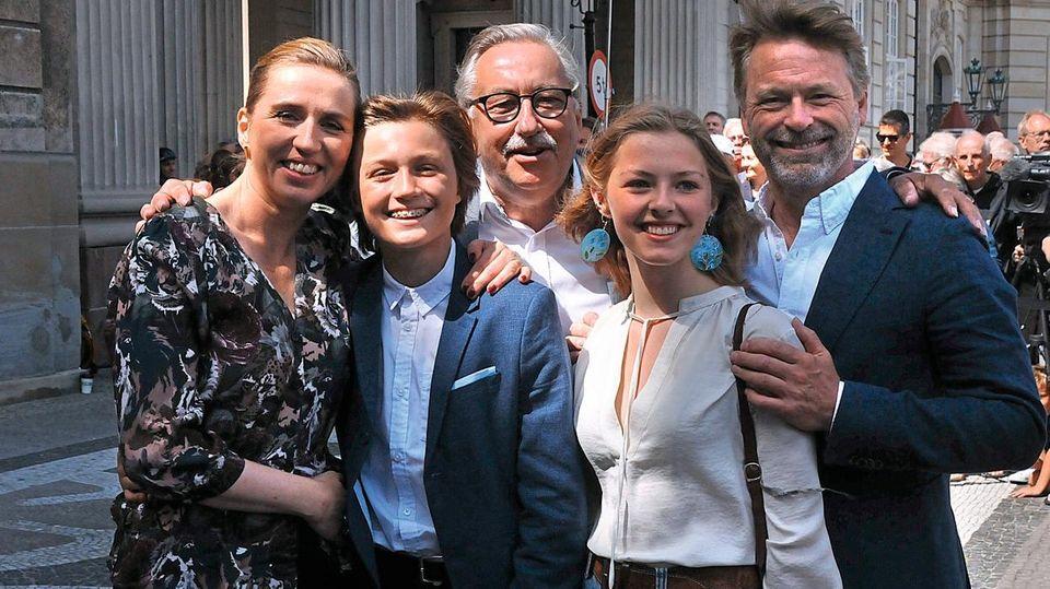 Mette Frederiksen und Familie